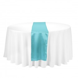Satin Table Runner Turquesa