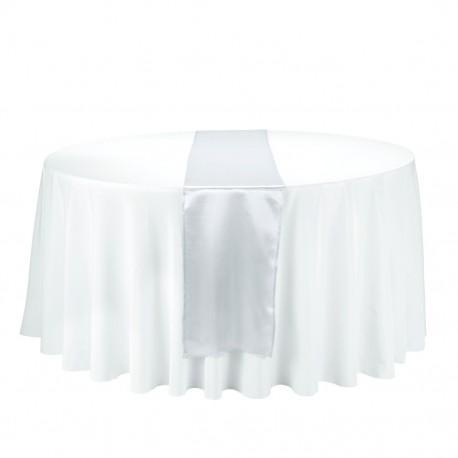 Satin Table Runner Plateado