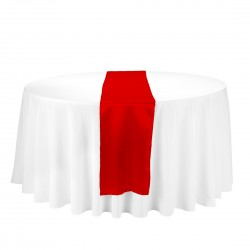 Satin Table Runner Rojo
