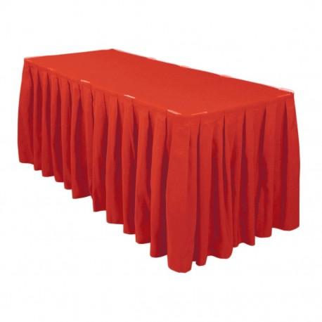 Falda Acordeon Plisado de Poliester Rojo