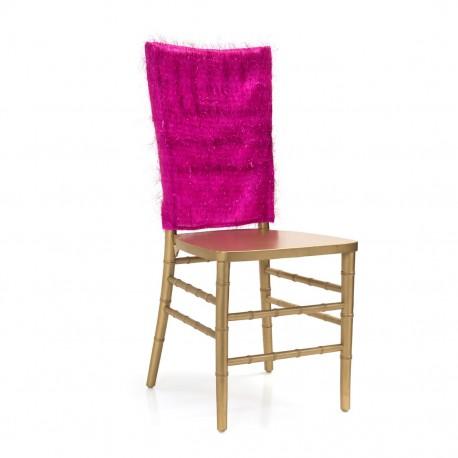 Tinsel Chiavari Chair Cap Fuchsia