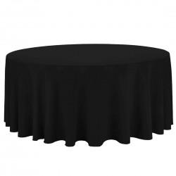 Mantel Redondo Negro